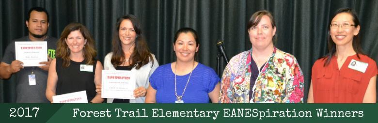 Forest Trail ES EANESpiration Winners, 2017