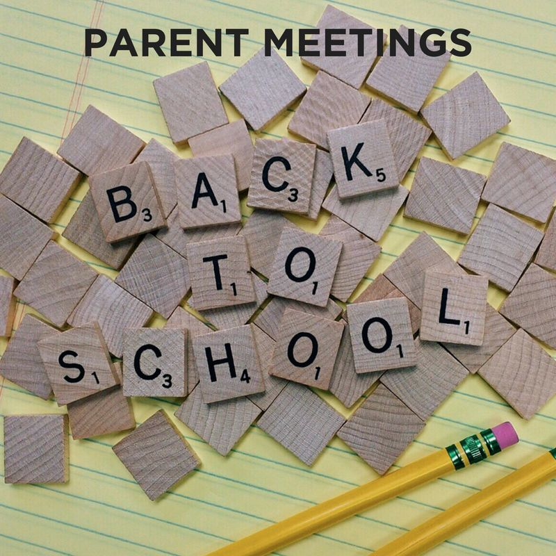 FTE BACK TO SCHOOL PARENT MEETINGS